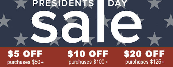 Presidents Day Sale All Week