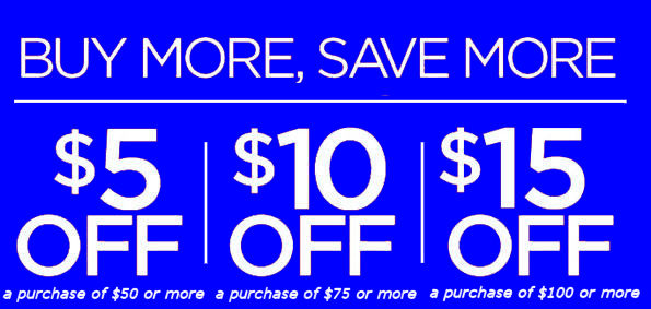 Buy More Save More In Store Promotion